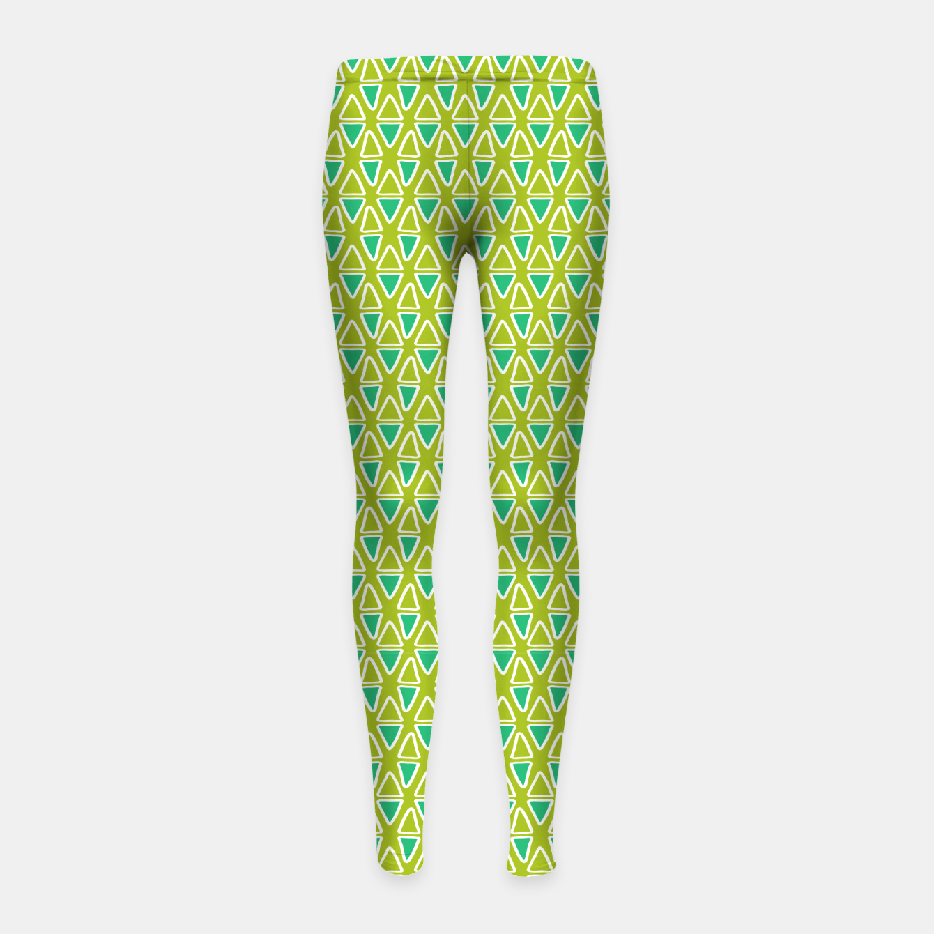 Image of Doodle Triangles - Green/Blue Girl's leggings - Live Heroes