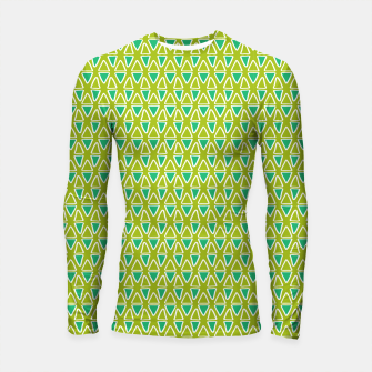 Thumbnail image of Doodle Triangles - Green/Blue Longsleeve rashguard , Live Heroes
