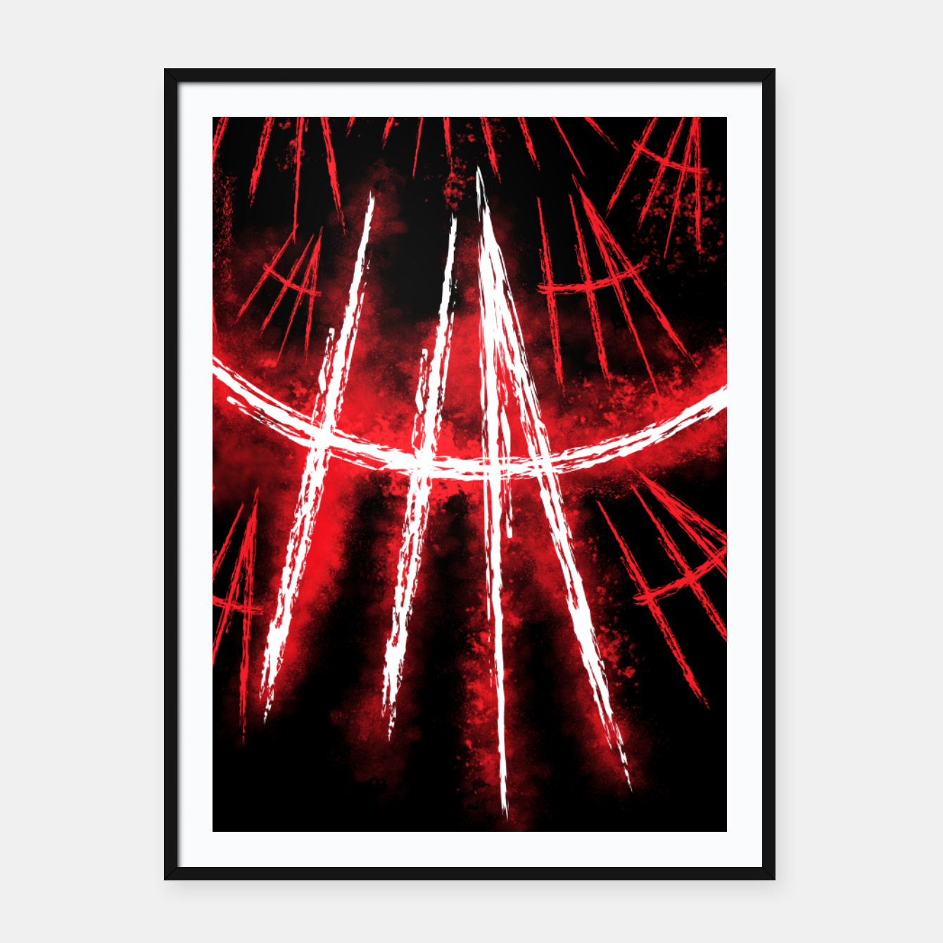 Image of Just Smile Framed poster - Live Heroes