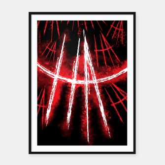 Thumbnail image of Just Smile Framed poster, Live Heroes