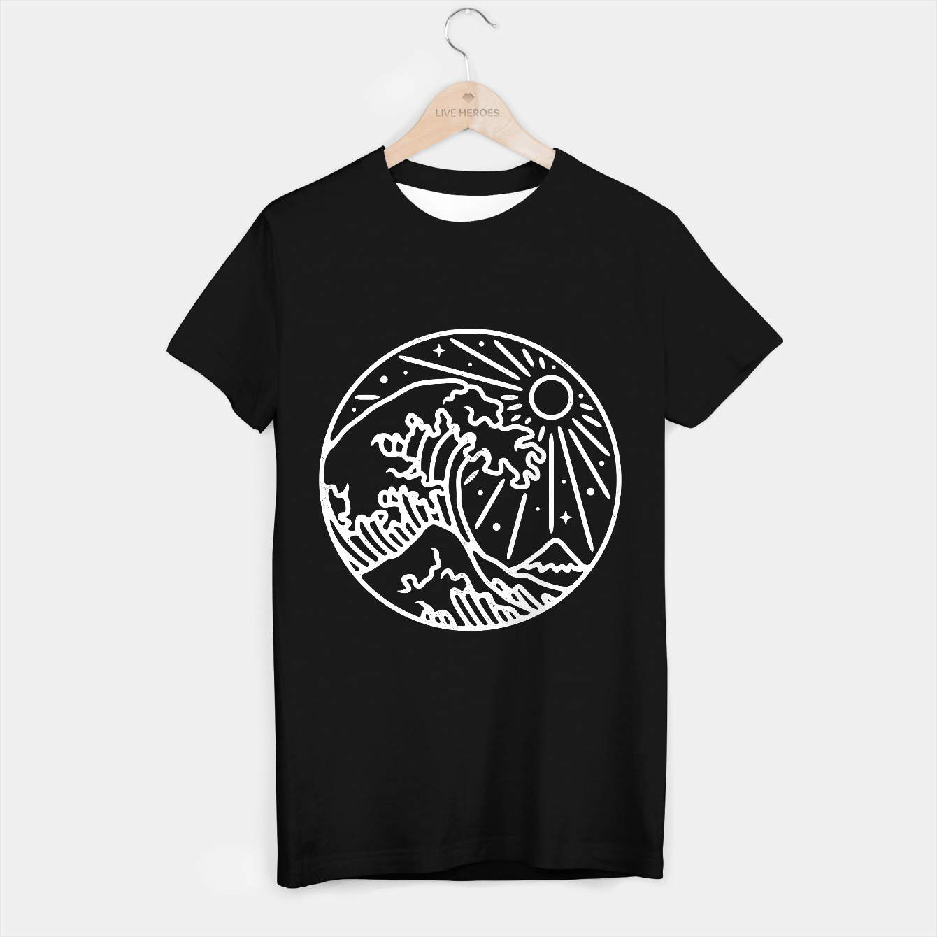 Image of The Great Wave T-shirt regular - Live Heroes