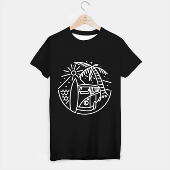 Miniature de image de Van, Surf, and Beach T-shirt regular, Live Heroes