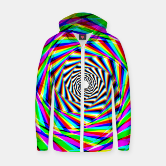 Thumbnail image of Psychedelic Spiral Zip up hoodie, Live Heroes