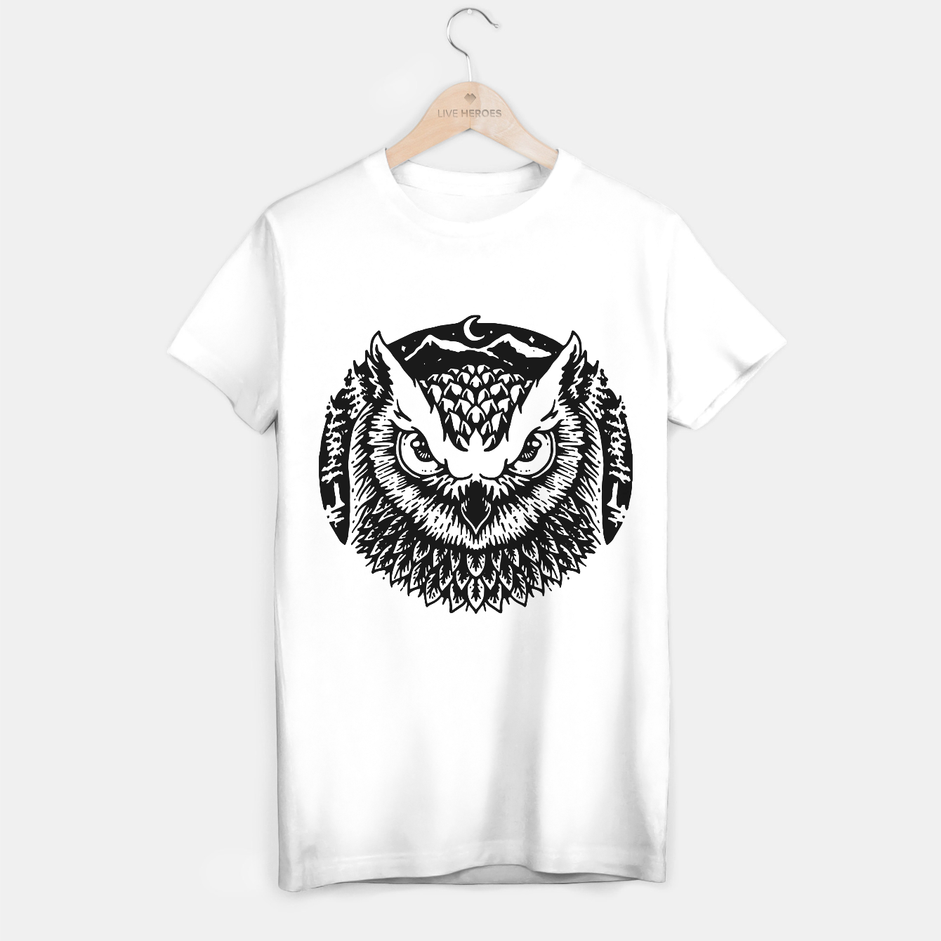 Image of Owly T-shirt regular - Live Heroes