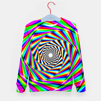 Thumbnail image of Psychedelic Spiral Kid's sweater, Live Heroes