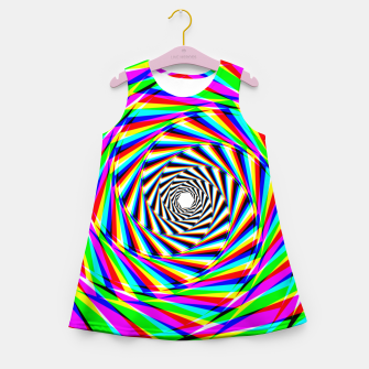 Thumbnail image of Psychedelic Spiral Girl's summer dress, Live Heroes