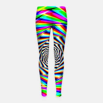 Thumbnail image of Psychedelic Spiral Girl's leggings, Live Heroes