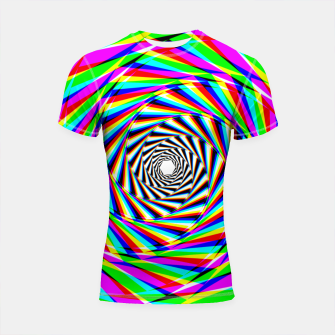 Thumbnail image of Psychedelic Spiral Shortsleeve rashguard, Live Heroes