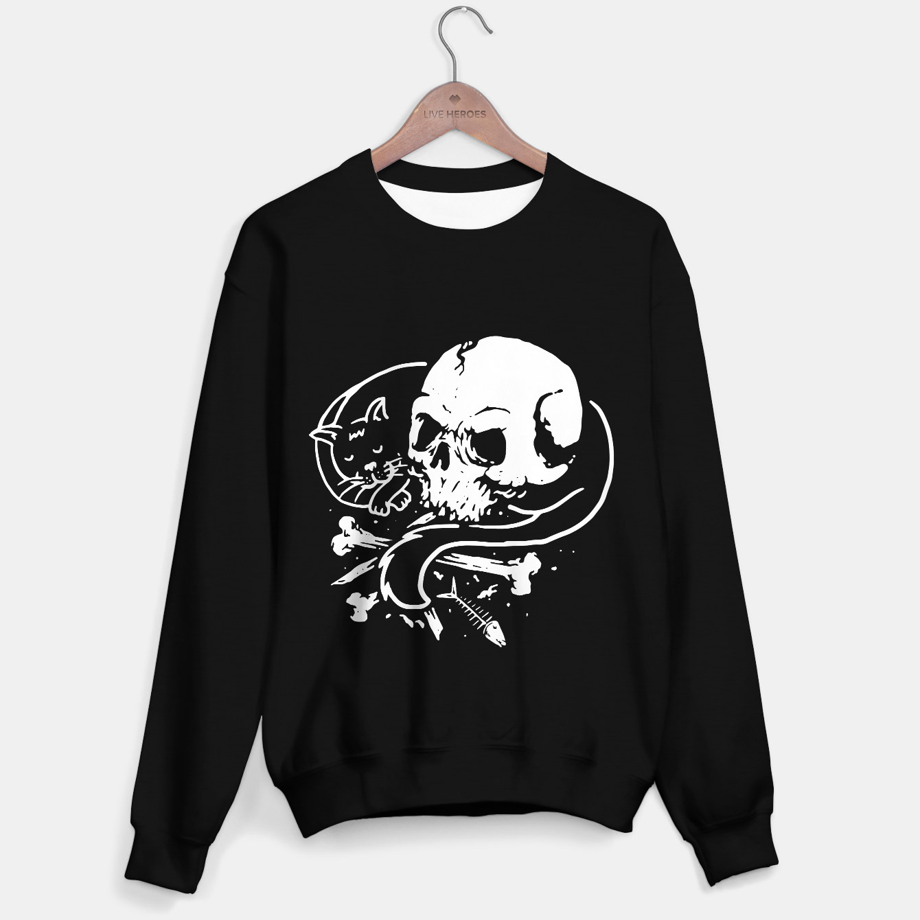 Image of Dark Cat Sweater regular - Live Heroes