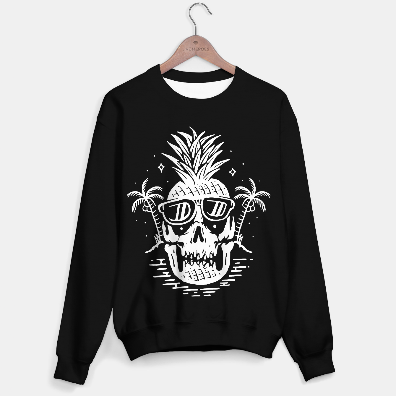 Image of Skull Pineapple Sweater regular - Live Heroes