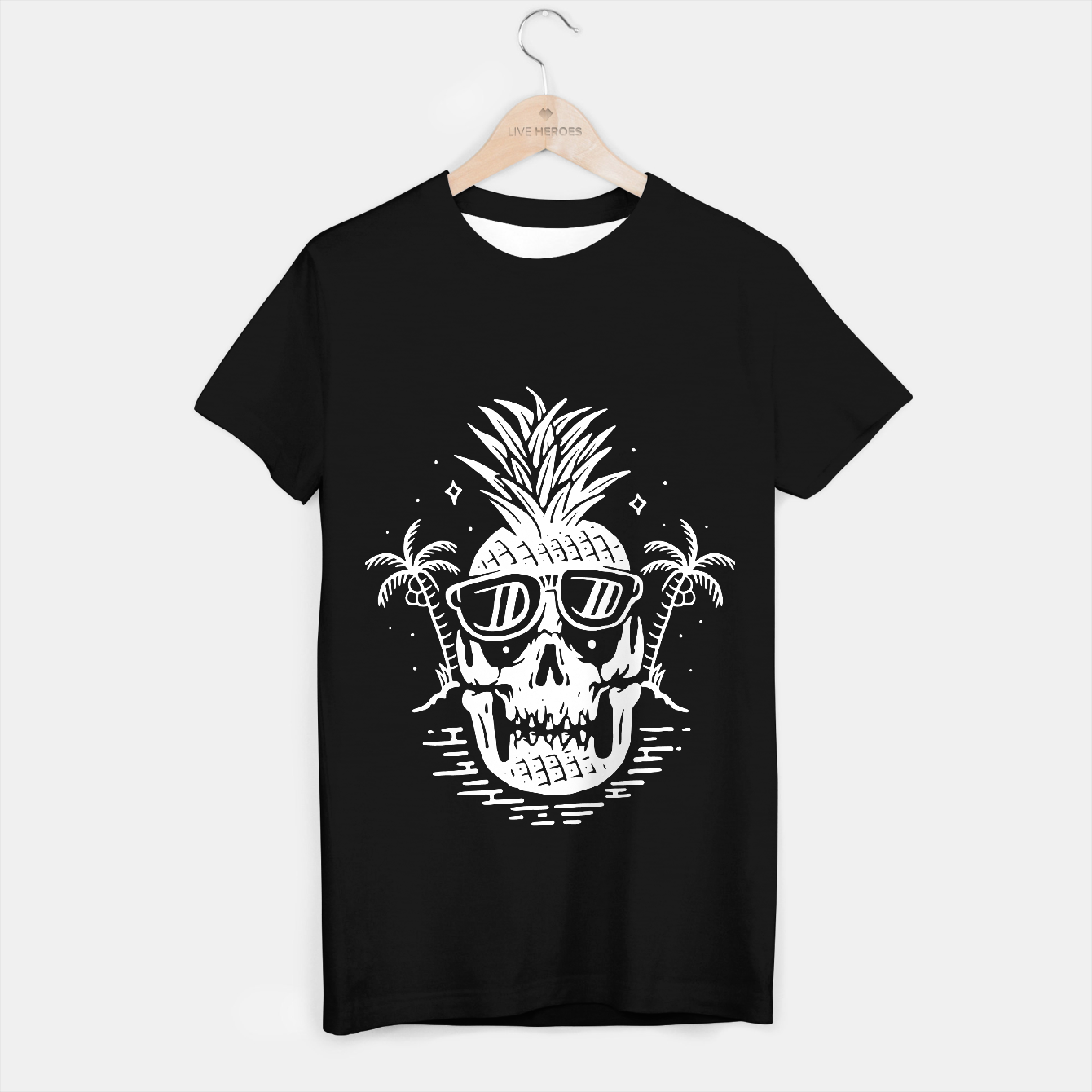 Image de Skull Pineapple T-shirt regular - Live Heroes