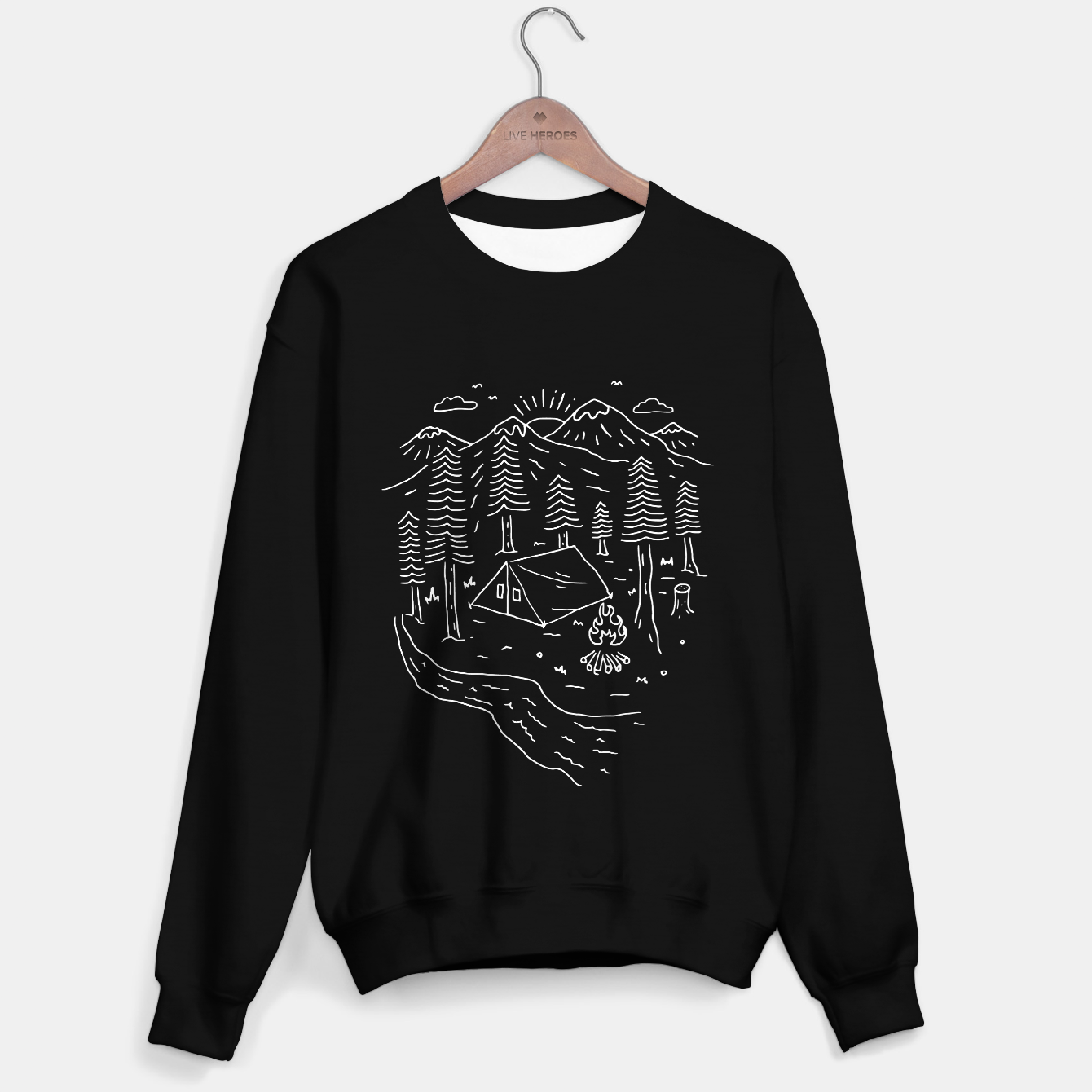 Image of Let's Go Camping Sweater regular - Live Heroes