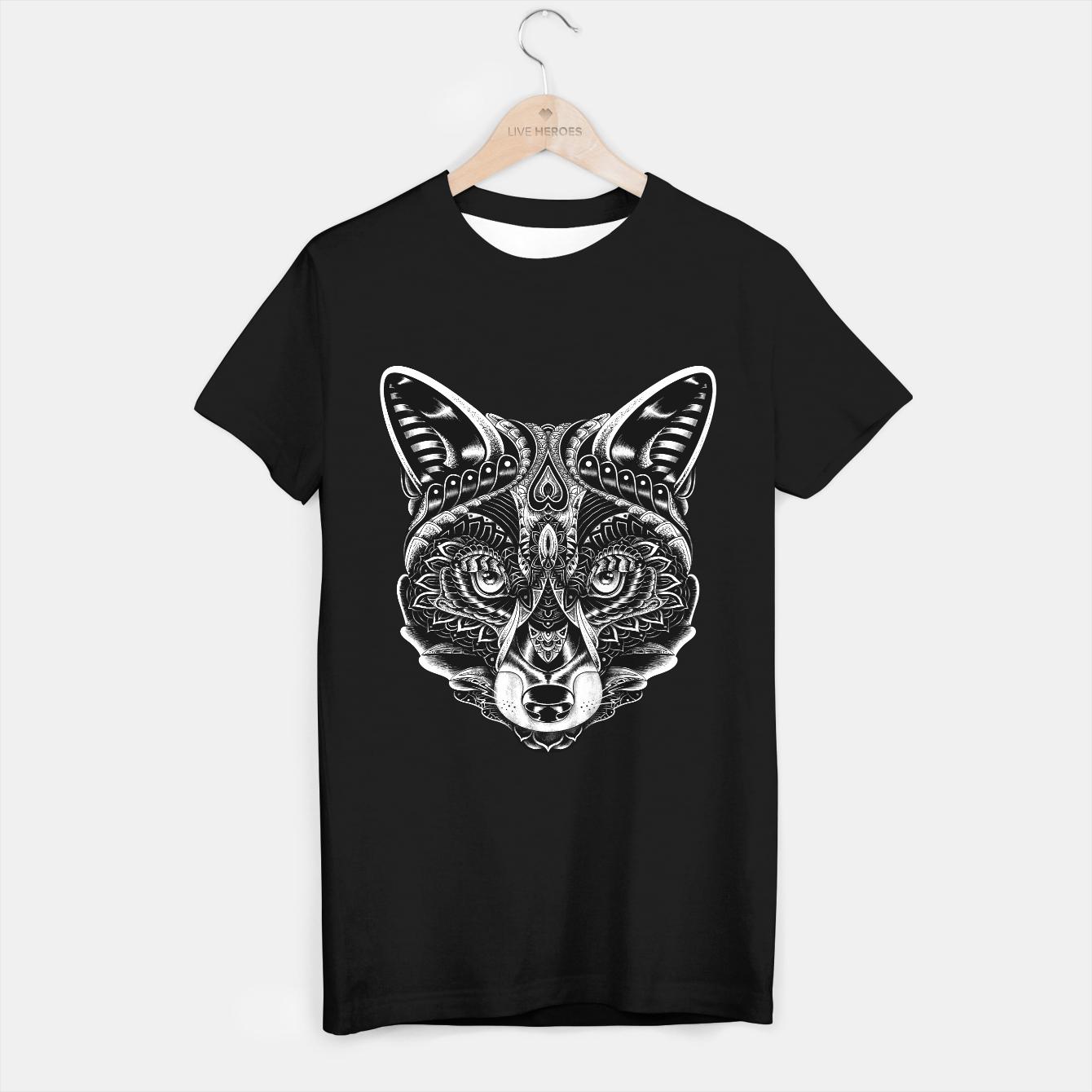 Image de Fox Ornate T-shirt regular - Live Heroes