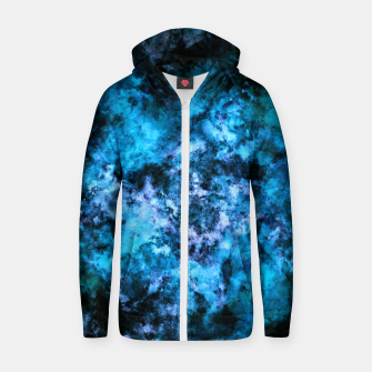 Thumbnail image of Blue burst Zip up hoodie, Live Heroes
