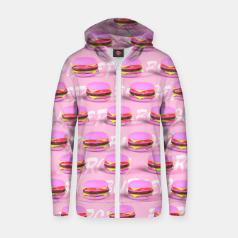 Thumbnail image of Pink Burgers Zip up hoodie, Live Heroes