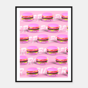 Thumbnail image of Pink Burgers Framed poster, Live Heroes