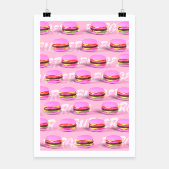 Thumbnail image of Pink Burgers Poster, Live Heroes