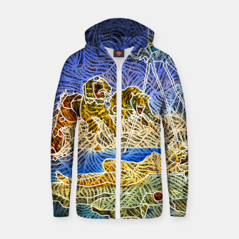Thumbnail image of d Zip up hoodie, Live Heroes