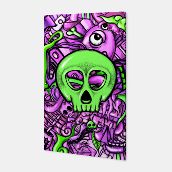 Thumbnail image of Doodle Bones Pink Canvas, Live Heroes