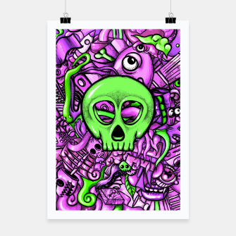 Thumbnail image of Doodle Bones Pink Poster, Live Heroes