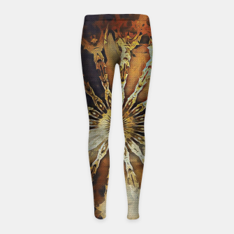Thumbnail image of wheel of time Girl's leggings, Live Heroes