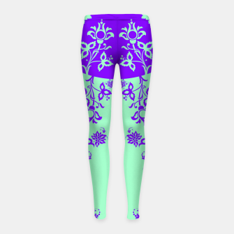 Thumbnail image of floral ornaments pattern voip60 Girl's leggings, Live Heroes