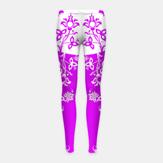 Thumbnail image of floral ornaments pattern wbp90 Girl's leggings, Live Heroes