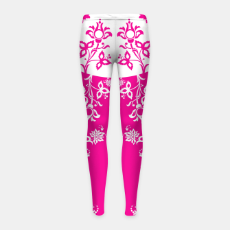 Thumbnail image of floral ornaments pattern wbp120 Girl's leggings, Live Heroes