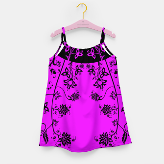 Thumbnail image of floral ornaments pattern wbim90 Girl's dress, Live Heroes