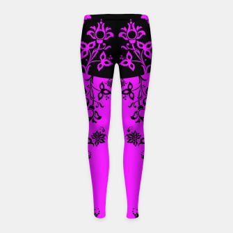 Thumbnail image of floral ornaments pattern wbim90 Girl's leggings, Live Heroes