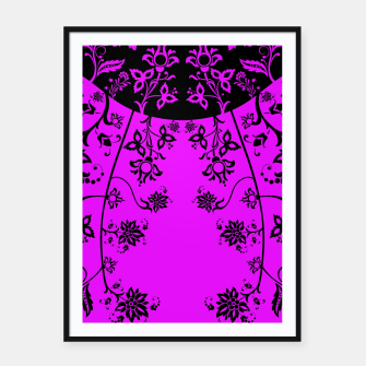 Thumbnail image of floral ornaments pattern wbim90 Framed poster, Live Heroes