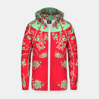 floral ornaments pattern rgim180 Zip up hoodie thumbnail image