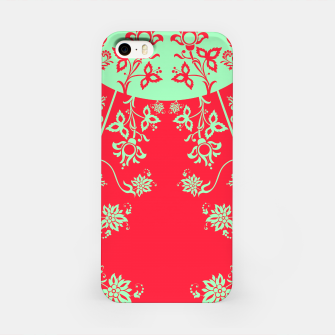 floral ornaments pattern rgim180 iPhone Case thumbnail image