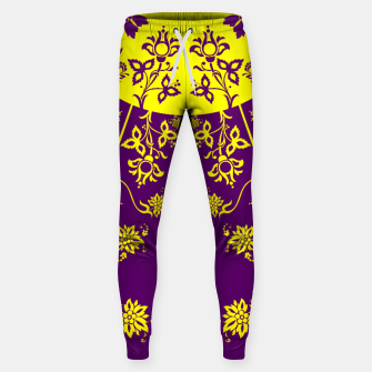 Thumbnail image of floral ornaments pattern vop30 Sweatpants, Live Heroes