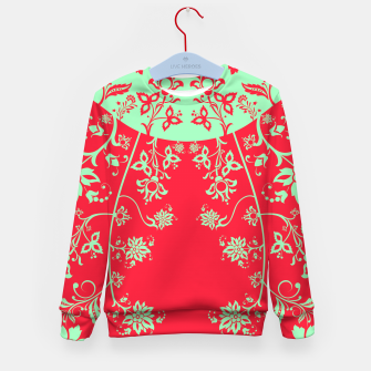 floral ornaments pattern rgim180 Kid's sweater thumbnail image