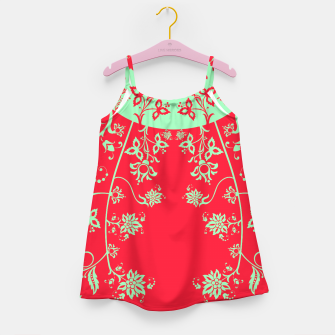 floral ornaments pattern rgim180 Girl's dress thumbnail image