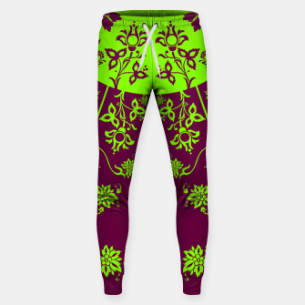 Thumbnail image of floral ornaments pattern vop60 Sweatpants, Live Heroes