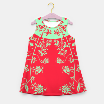 floral ornaments pattern rgim180 Girl's summer dress thumbnail image