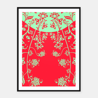 floral ornaments pattern rgim180 Framed poster thumbnail image