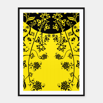 floral ornaments pattern wbip30 Framed poster thumbnail image