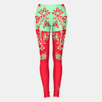 floral ornaments pattern rgim180 Leggings thumbnail image