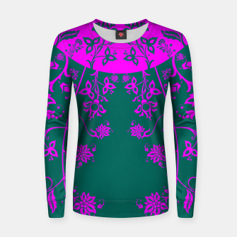Thumbnail image of floral ornaments pattern vom90 Women sweater, Live Heroes