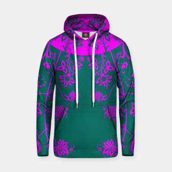 Thumbnail image of floral ornaments pattern vom90 Hoodie, Live Heroes