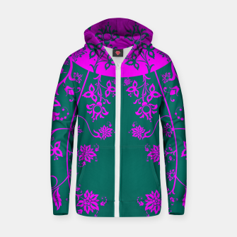 Thumbnail image of floral ornaments pattern vom90 Zip up hoodie, Live Heroes