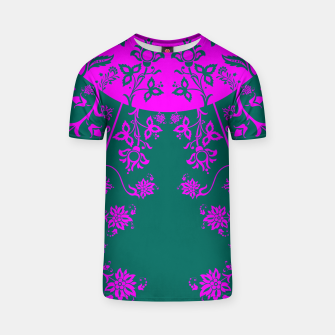 Thumbnail image of floral ornaments pattern vom90 T-shirt, Live Heroes