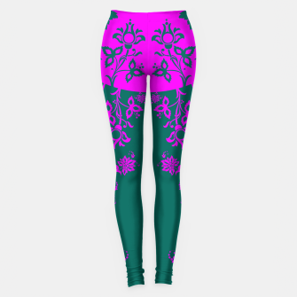 Thumbnail image of floral ornaments pattern vom90 Leggings, Live Heroes