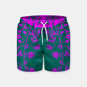 Thumbnail image of floral ornaments pattern vom90 Swim Shorts, Live Heroes