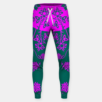 Thumbnail image of floral ornaments pattern vom90 Sweatpants, Live Heroes