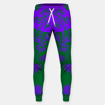Thumbnail image of floral ornaments pattern vom120 Sweatpants, Live Heroes