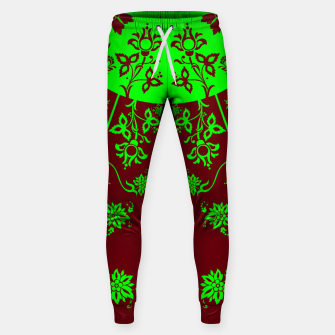 Thumbnail image of floral ornaments pattern vop90 Sweatpants, Live Heroes
